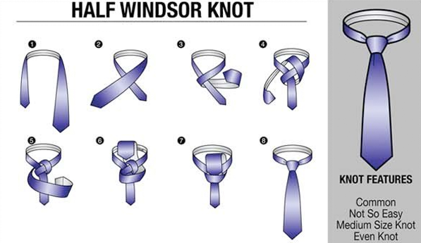 the windsor knot is a triangular tie knot that can be worn with any dress shirt it works best with wider neck ties made from light to medium fabrics